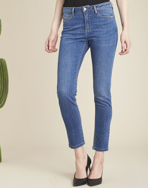 Hellblaue Slim-Fit-Jeans mit Reißverschlüssen Vendome PhotoZ | 1-2-3