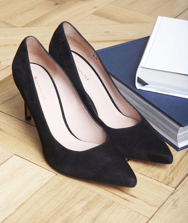 Escarpins noirs en cuir velours Kelly PhotoZ | 1-2-3