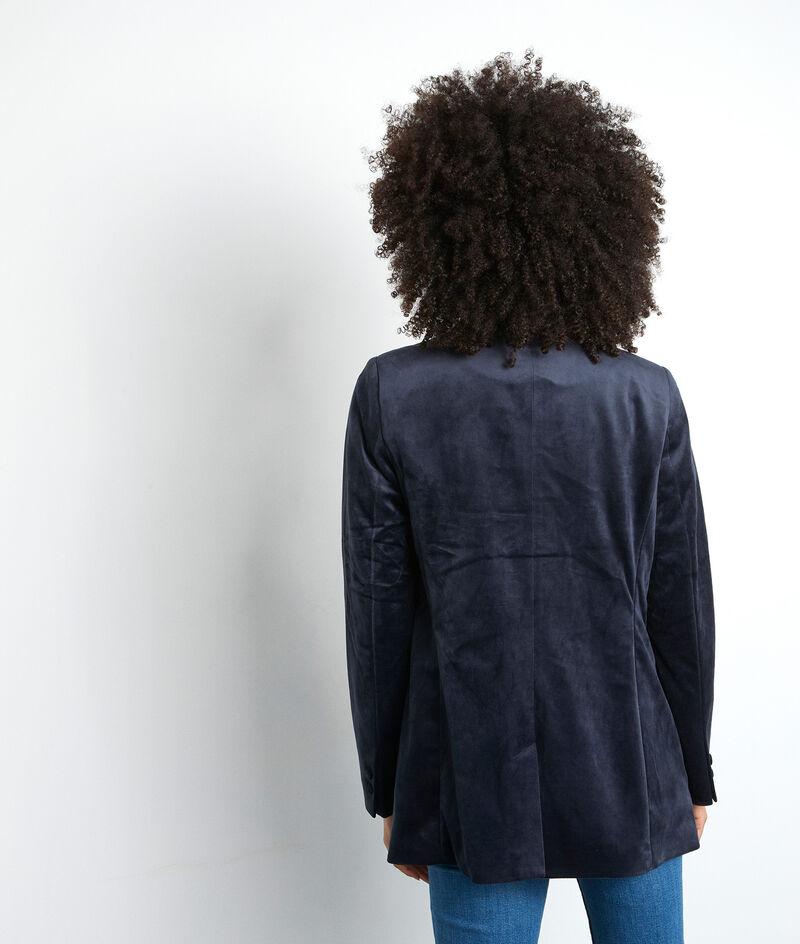 L'iconique blazer Florine en velours bleu marine PhotoZ | 1-2-3