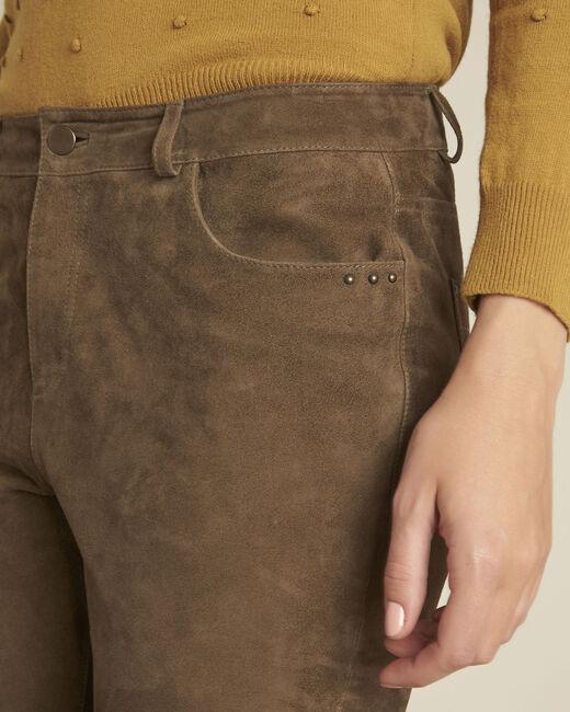 Pantalon kaki en cuir velours Houston (2) - 1-2-3