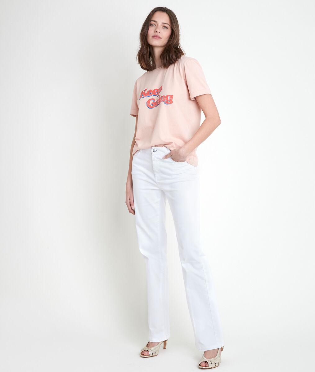 Tee-shirt rose sérigraphié Ibiza PhotoZ | 1-2-3