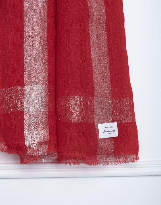 Foulard rouge brillant Galet PhotoZ   1-2-3