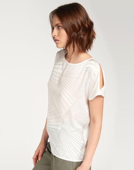 Tee-shirt écru imprimé géométrique Nanako (3) - 1-2-3