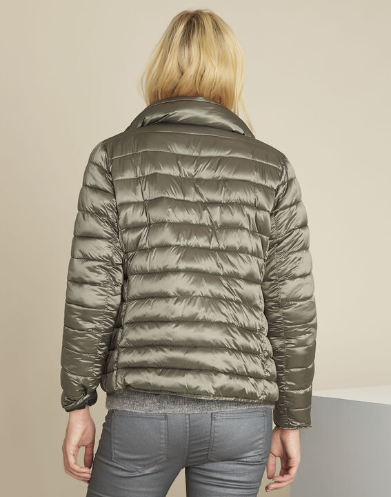 Pepite short iridescent taupe down jacket (4) - 1-2-3