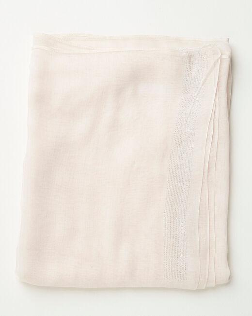 Blassrosa glänzendes Halstuch aus Viskose Amber (1) - 1-2-3