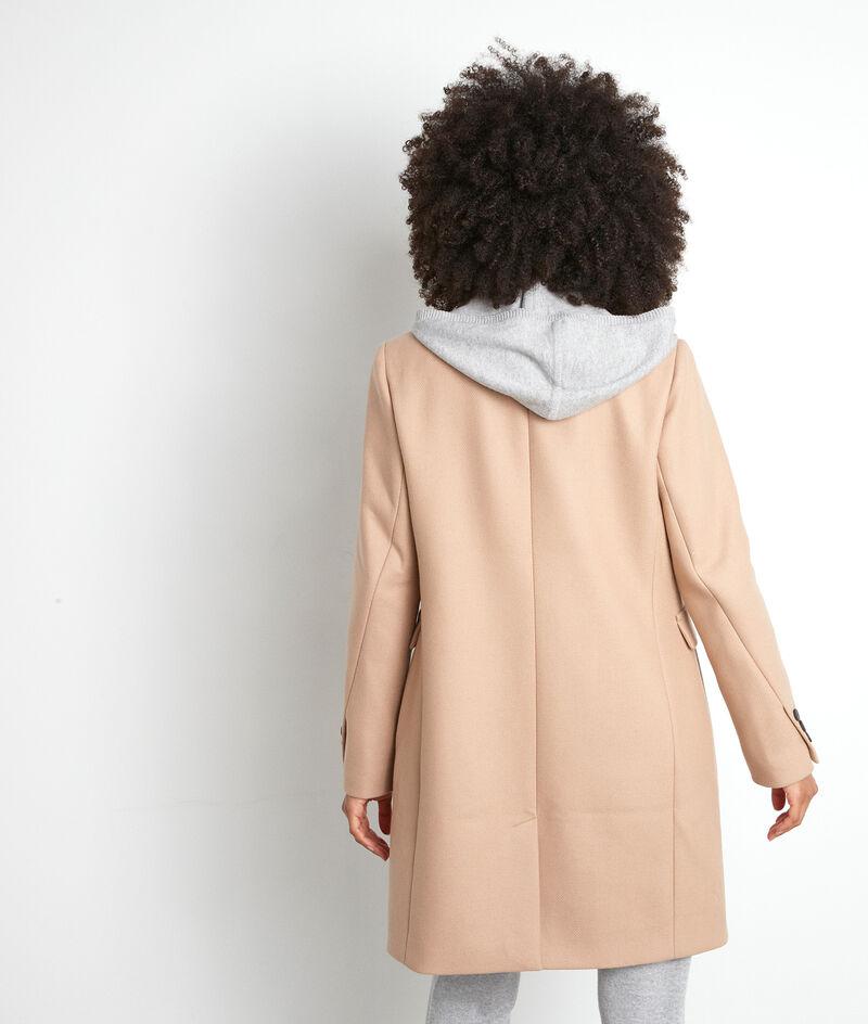 Manteau droit en laine beige Lucas PhotoZ | 1-2-3