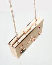 Ruthy golden clutch bag gold.