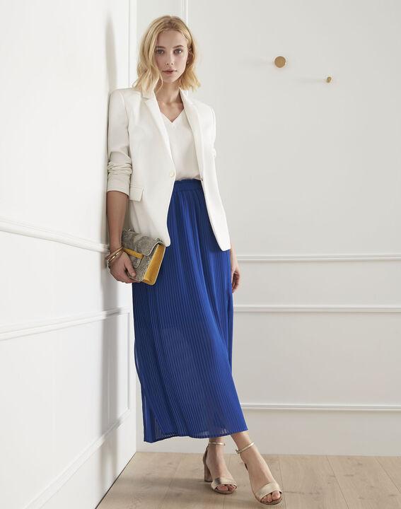 Jupe bleue plissée Sofia (2) - Maison 123