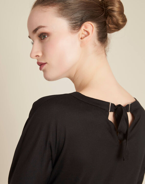 Guillem black blouse with bow at the back PhotoZ | 1-2-3