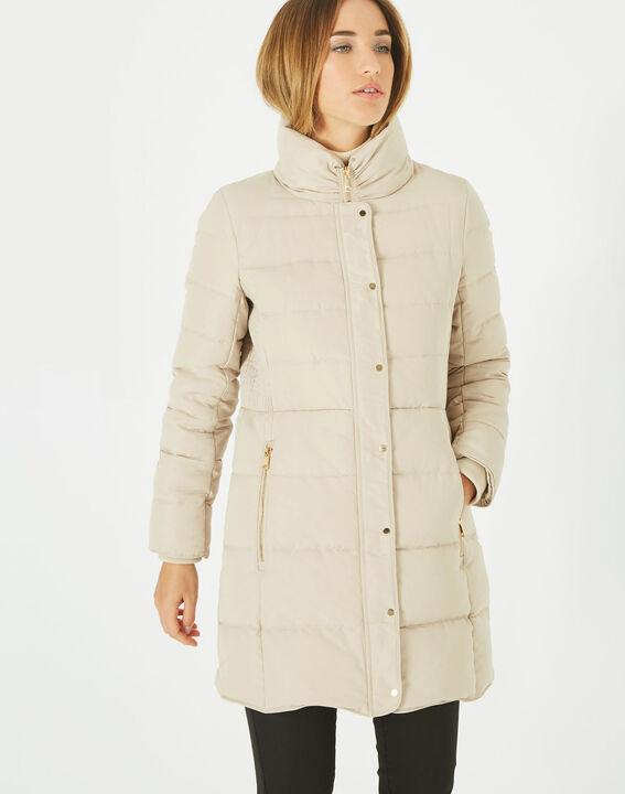 Lise mid-length cream puffer jacket (3) - 1-2-3