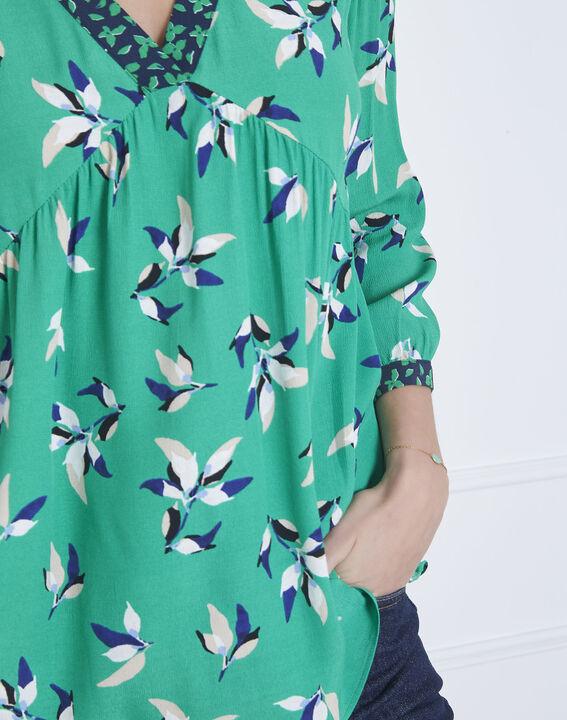 239cccf79eab9 Vatika green floral print blouse - Maison Cent Vingt-Trois