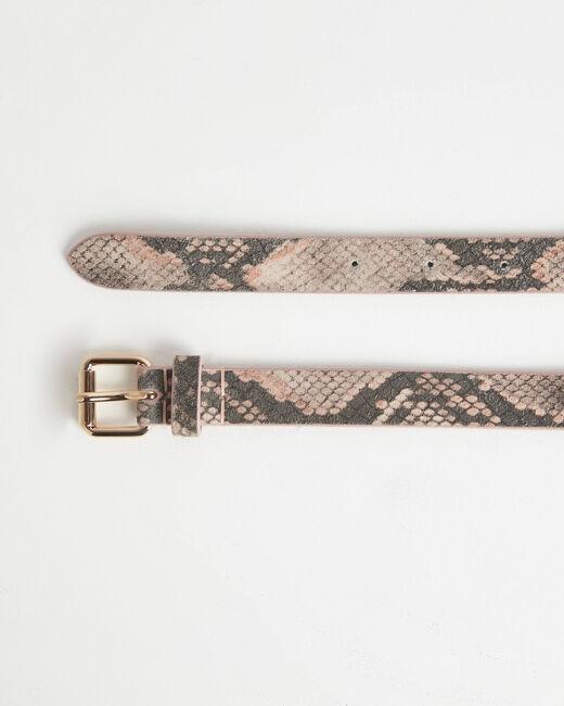 Ceinture imprimé python rose pale en cuir Rita (2) - 1-2-3