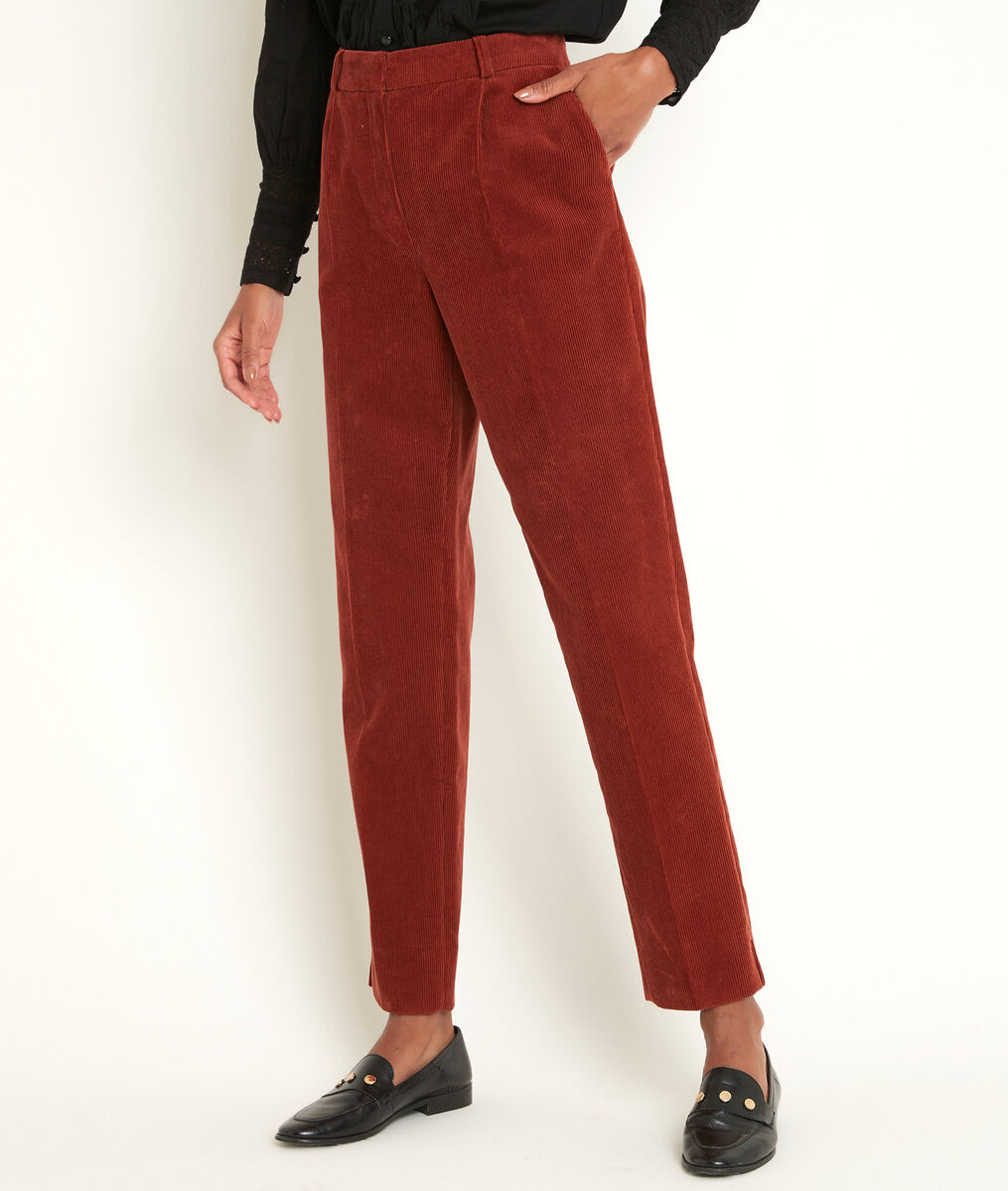 Pantalon cigarette en velours Isaure PhotoZ | 1-2-3