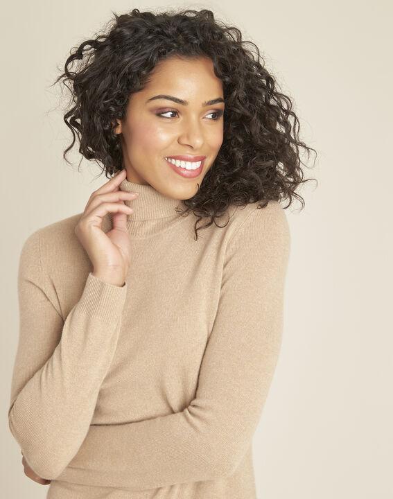 Perceneige camel polo-neck cashmere sweater (3) - 1-2-3