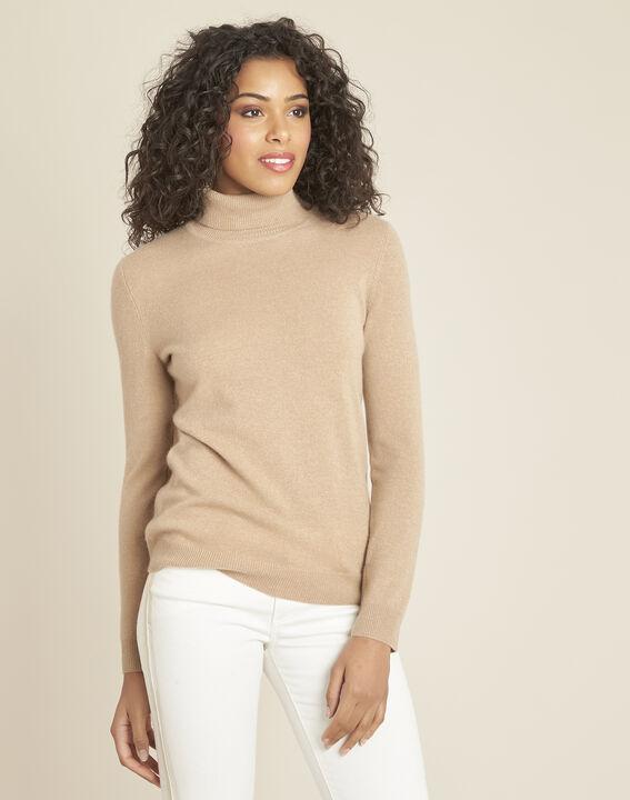 Perceneige camel polo-neck cashmere sweater PhotoZ | 1-2-3