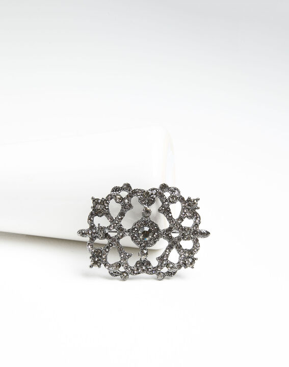 Xena silver plated brooch with stones PhotoZ | 1-2-3