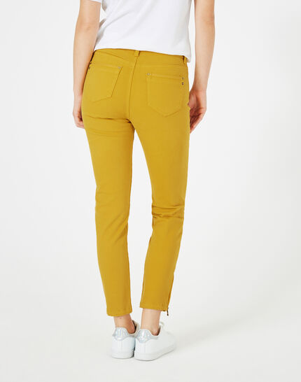 Pia yellow 7/8 length satin trousers (4) - 1-2-3