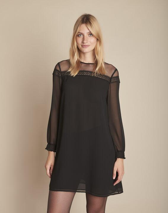 Robe noire en tulle brodée Renee PhotoZ | 1-2-3
