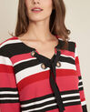 Eboreal striped red sweater with bow (1) - 1-2-3