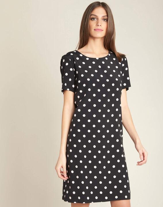 People black straight-cut polka-dot dress (3) - 1-2-3