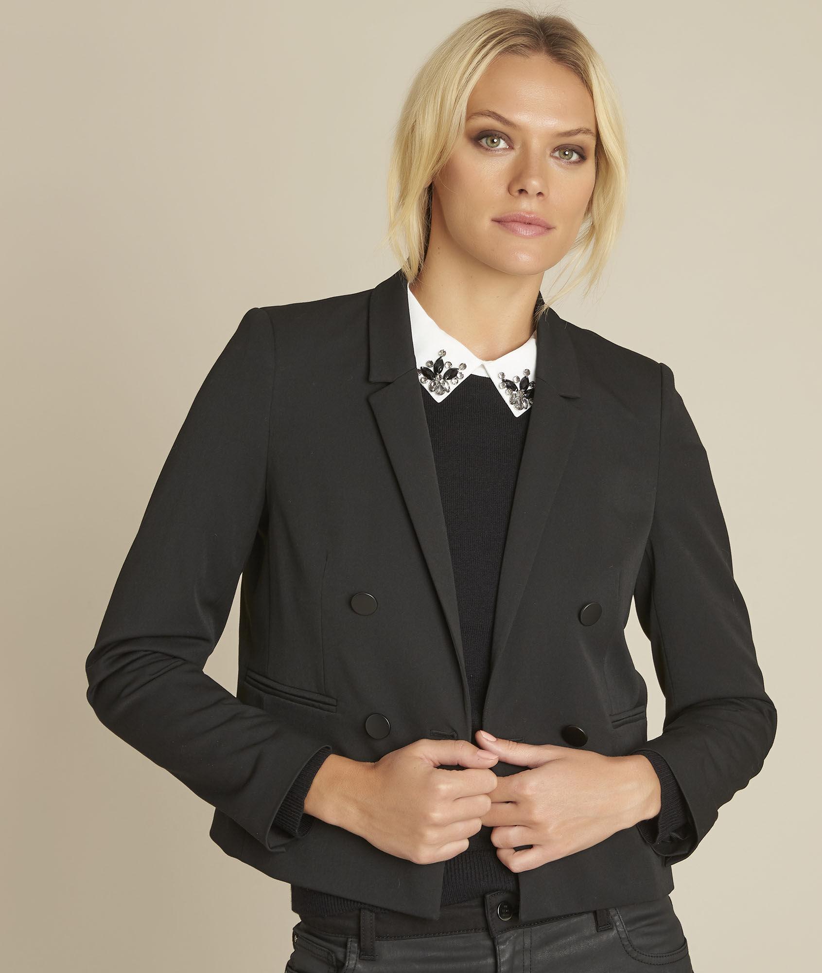 Veste Femme Chics Tailleurs Noires Vestes q6Owqf