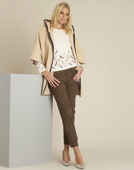 Manteau camel à capuche laine mélangée Eden (2) - 1-2-3