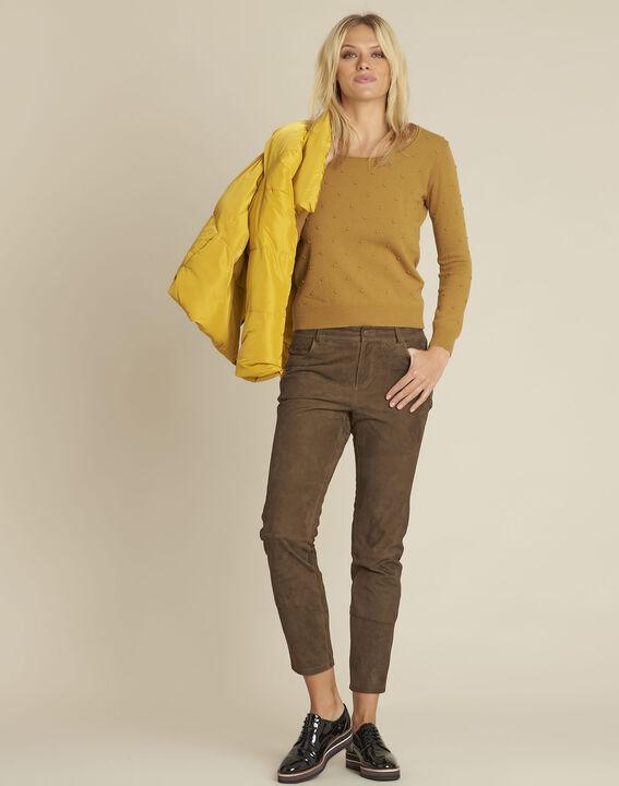 Pantalon kaki en cuir velours Houston (2) - Maison 123