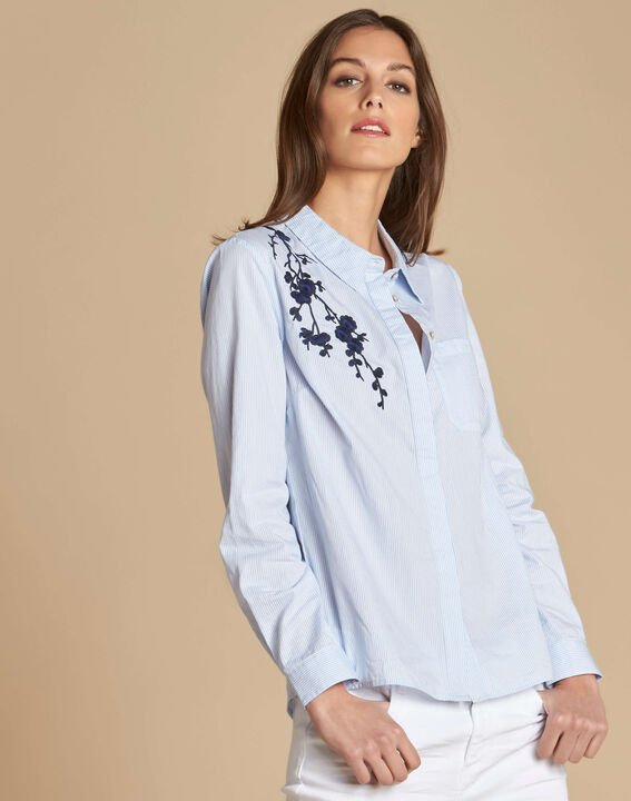 Delinda embroidered striped shirt (3) - 1-2-3