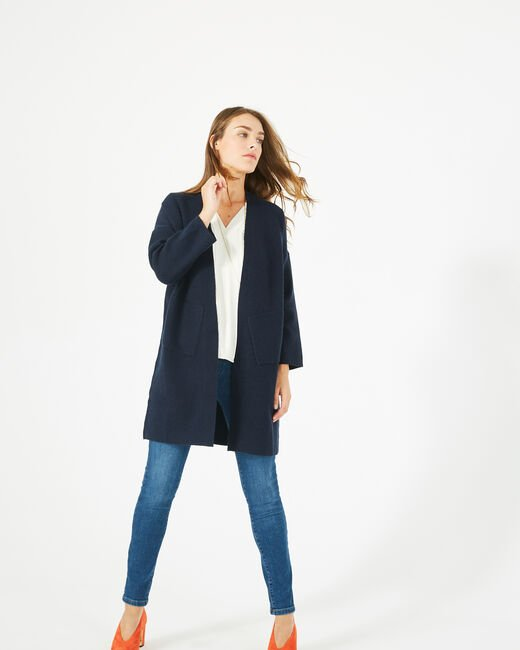 Panda long navy blue jacket (2) - 1-2-3