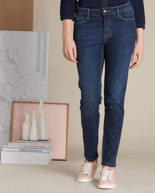 Dunkelblaue Slim-Fit-Jeans Vendome (2) - 1-2-3
