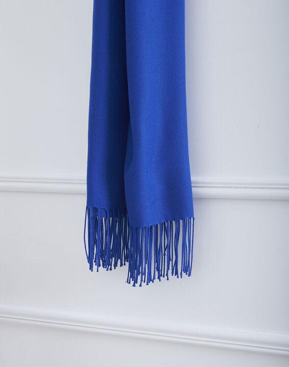 Foulard bleu à franges Fossette PhotoZ   1-2-3