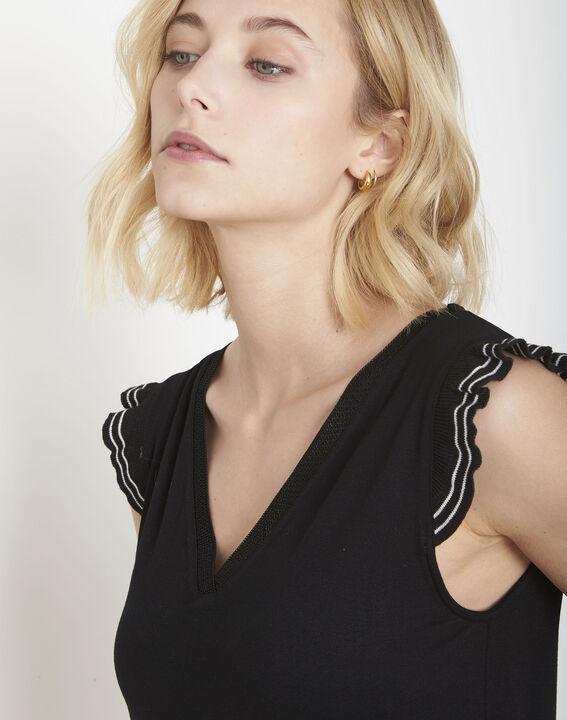 Tee-shirt noir volants Paulina (3) - Maison 123