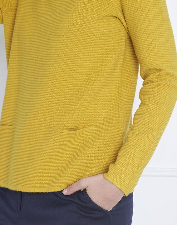 Anisfarbener Pullover feinmaschig Stehkragen Belize (3) - Maison 123