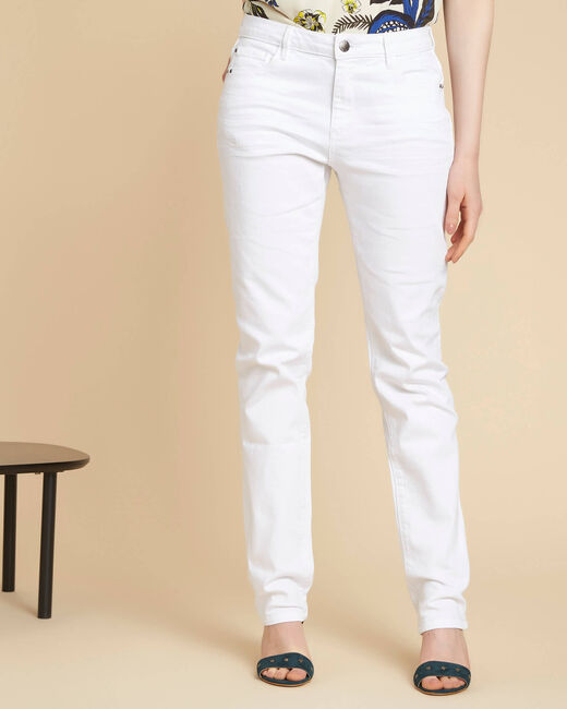 Vivienne straight-cut fitted white jeans (2) - 1-2-3