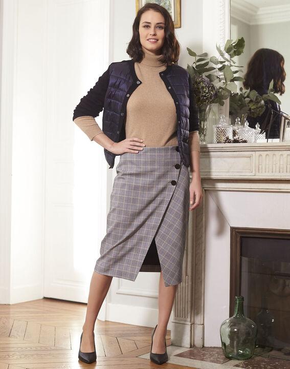 Amanda wraparound skirt with Prince of Wales check pattern (1) - 1-2-3