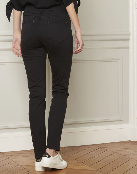 Vendome black slim-cut 7/8-length cotton jeans (3) - 1-2-3