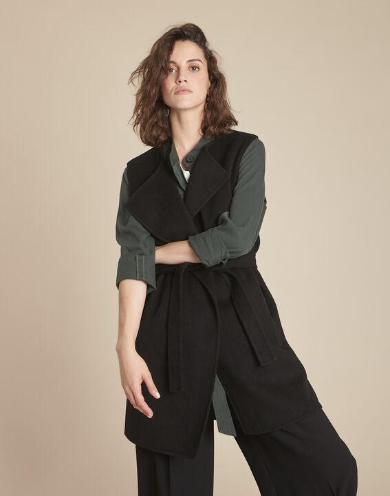 Gilet noir double face en laine mélangée Tahira PhotoZ | 1-2-3