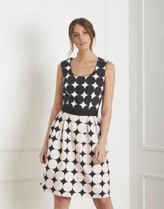Robe noir & blanc imprimé pois Hisis (1) - Maison 123