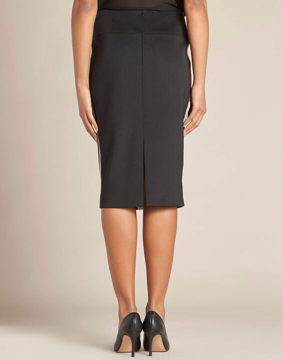Lotus black skirt with contrasting trim (4) - 1-2-3