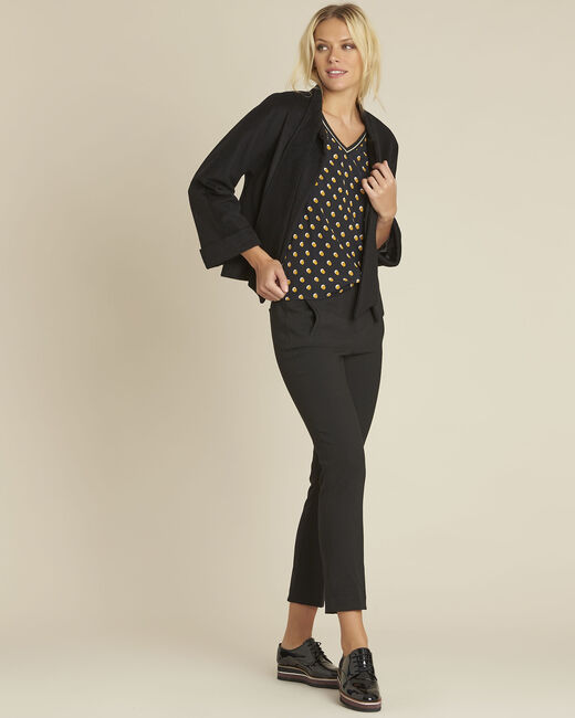 Charlie black blouse with yellow polka dots (1) - 1-2-3