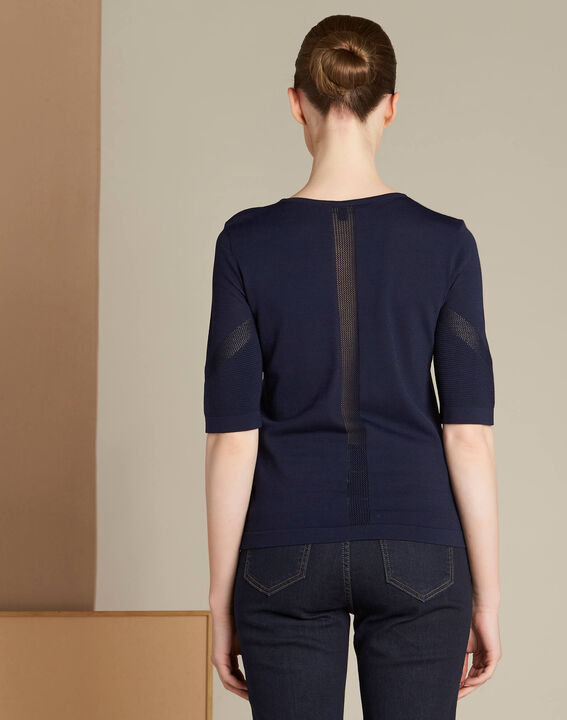 Nymphe navy blue sweater with spotted detailing (4) - 1-2-3