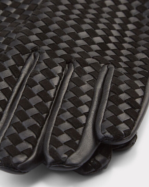 Zoé black woven leather gloves (1) - 1-2-3