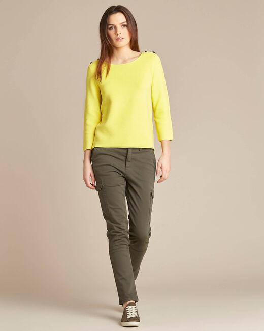 Zitronengelber 3/4-Arm-Pullover Neroli (1) - 1-2-3