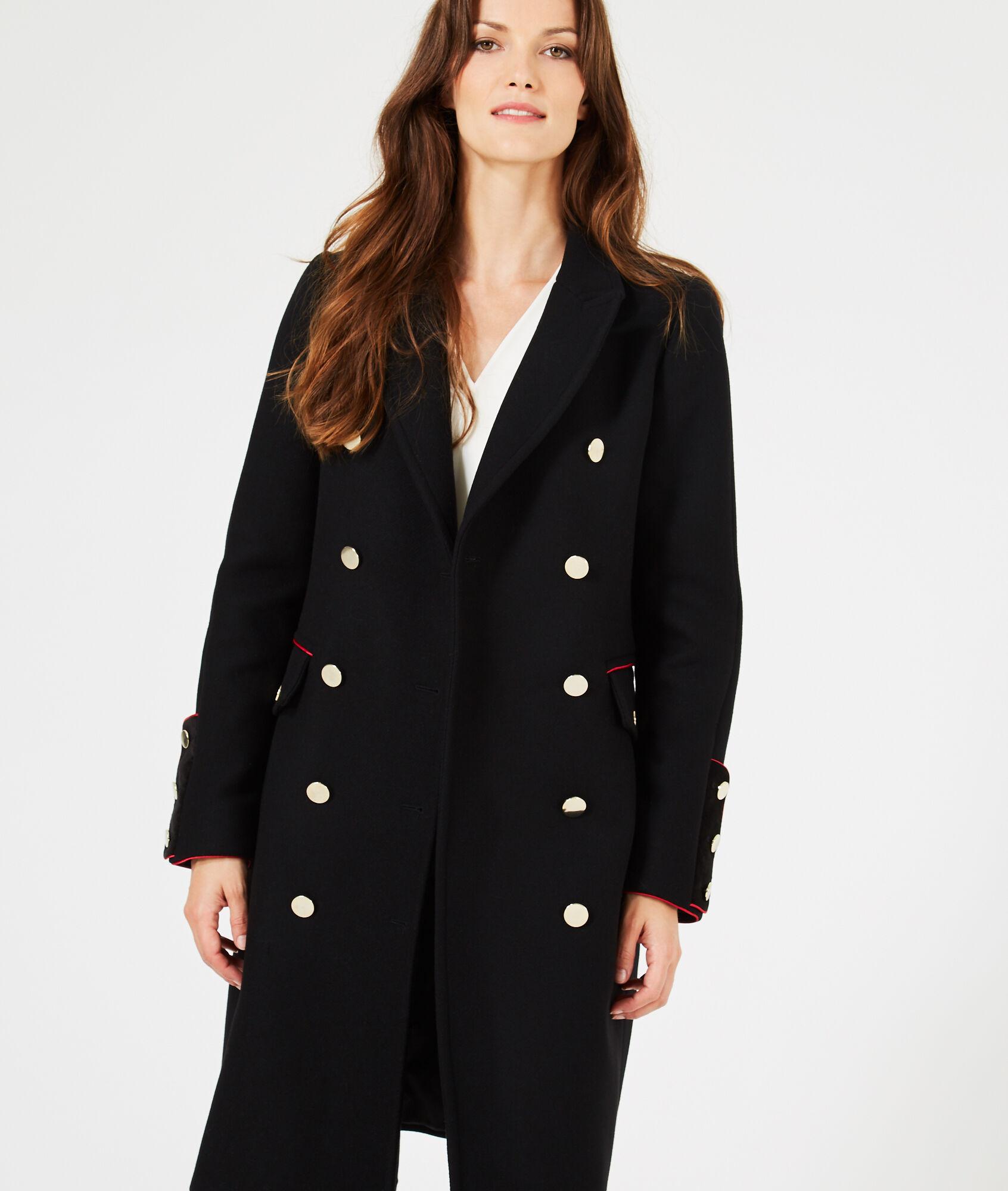 Manteau femme noir tres long