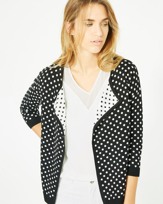 Parade black and white knitted jacket with polka dots (2) - 1-2-3
