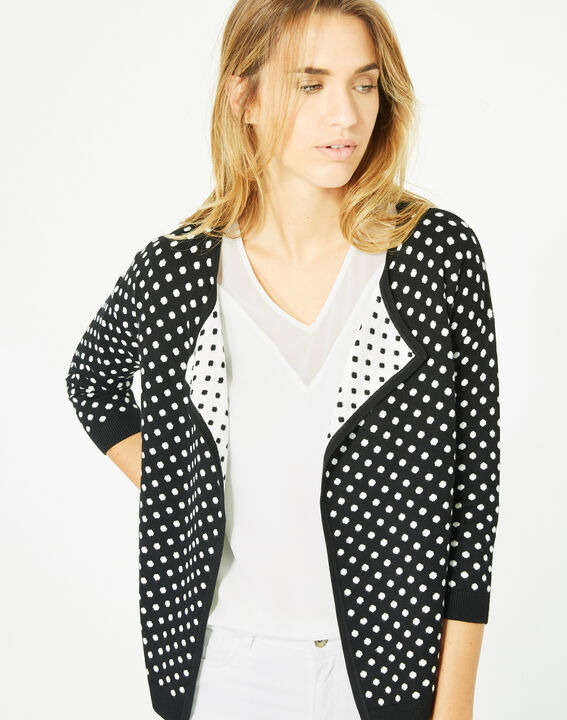 Parade black and white knitted jacket with polka dots PhotoZ | 1-2-3