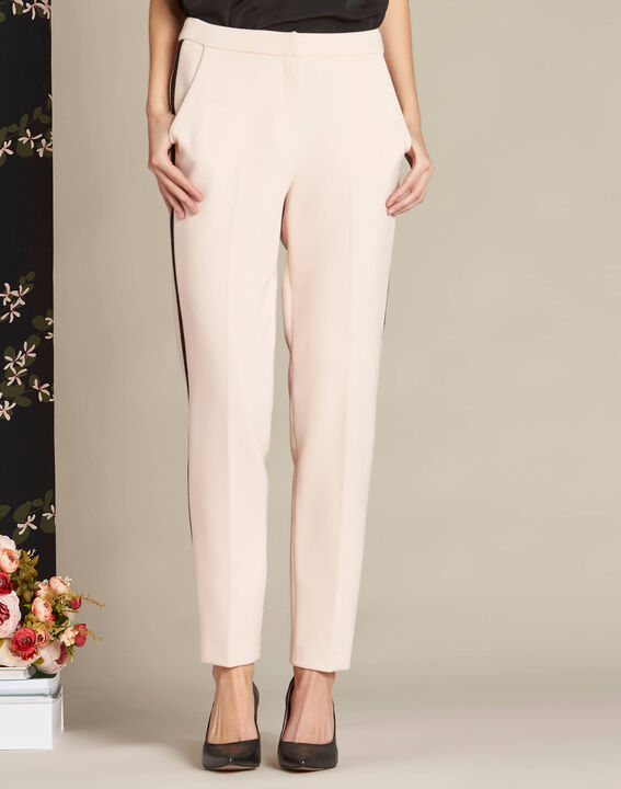 Vadi nude fitted trousers with lateral band (3) - 1-2-3