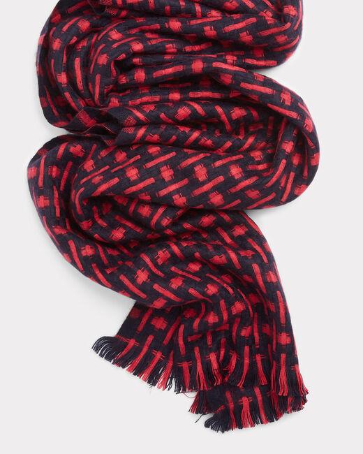 Foulard bicolore imprimé Elsa (2) - 1-2-3