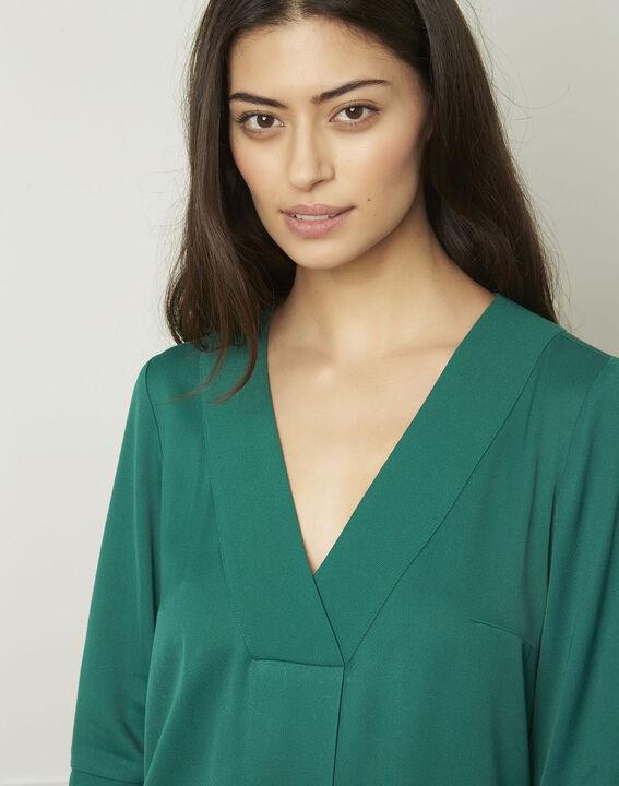 Grünes Kleid mit V-Ausschnitt Lina (4) - Maison 123