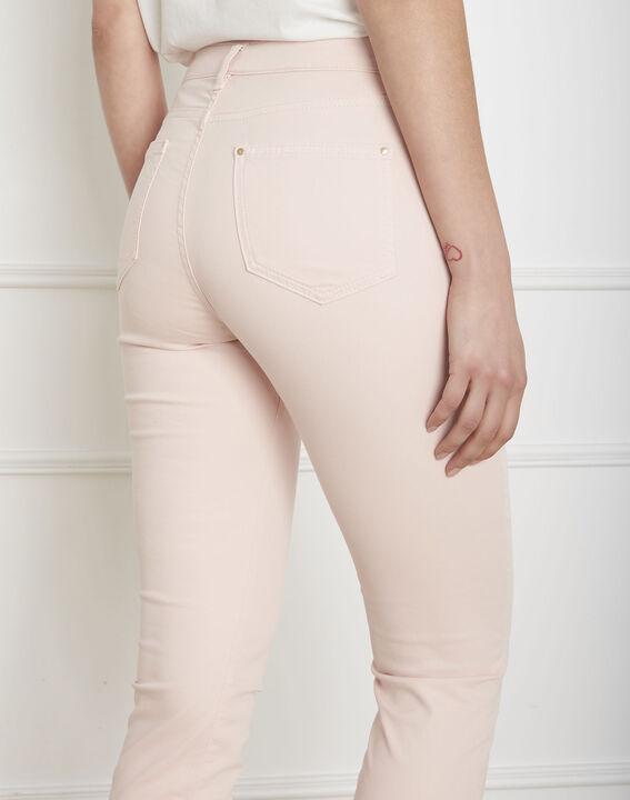 Jeans in hellem Pink aus Baumwollsatin im Slim-Schnitt Vendome (4) - Maison 123